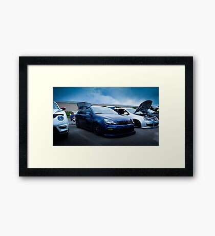Slammed Golf GTI Framed Print
