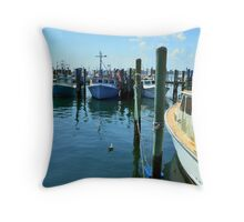 Lobster Boats at Point Judith, RI [4] Throw Pillow