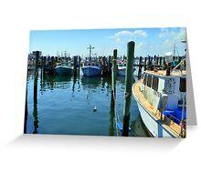 Lobster Boats at Point Judith, RI [4] Greeting Card