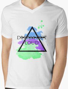 Dream Out Loud Watercolor Mens V-Neck T-Shirt