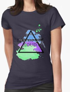 Dream Out Loud Watercolor Womens Fitted T-Shirt