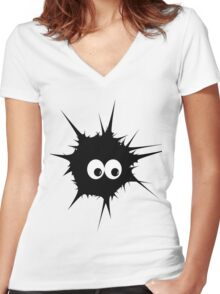 Cute Monster  Women's Fitted V-Neck T-Shirt