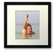 """""""A smile full of happiness .""""- Bintan Indonesia Framed Print"""