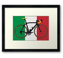Bike Flag Italy (Big - Highlight) Framed Print