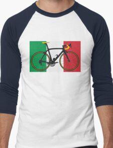 Bike Flag Italy (Big - Highlight) Men's Baseball ¾ T-Shirt