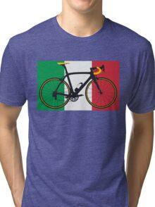 Bike Flag Italy (Big - Highlight) Tri-blend T-Shirt