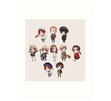 hetalia chibi collection Art Print