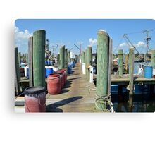 Boat Docks at Point Judith, RI [5] Canvas Print