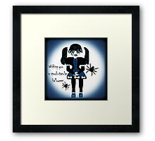 Little Goth Anime Girl Framed Print