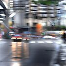 Stopping for Steffi... Seattle Rain Series by linaji