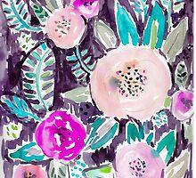 Gardens of Rockridge Tropical Watercolor Floral by Barbarian