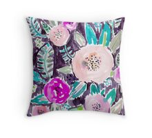 Gardens of Rockridge Tropical Watercolor Floral Throw Pillow