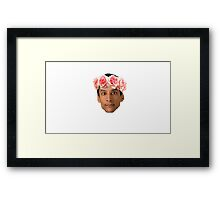 Abed in a flower crown Framed Print