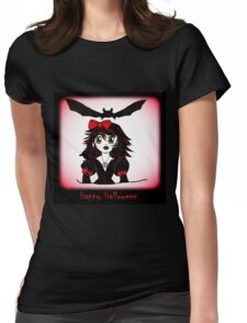 Little Goth Halloween Girl Womens Fitted T-Shirt
