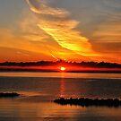 Baltic Sea summer morning sunrise by jchanders