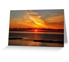 Baltic Sea summer morning sunrise Greeting Card