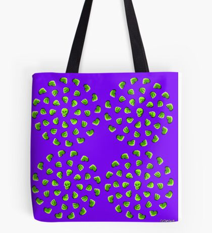 Fancy Dancing Skulls Tote Bag