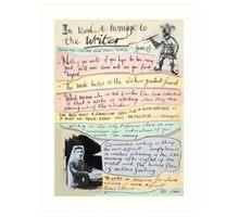 writers homage #1 Art Print