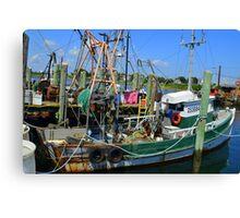 Fishing Trawler at the Docks at Point Judith, RI [7] Canvas Print