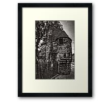 The Queen's Bath House - B&W Framed Print
