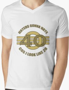 40th Birthday Humor Mens V-Neck T-Shirt