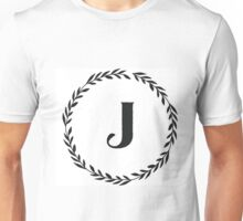 Monogram Wreath - J Unisex T-Shirt