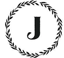 Monogram Wreath - J Photographic Print