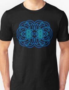 Blue Tribal Curves (Landscape) T-Shirt