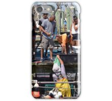 Selling the days catch at Point Judith, RI [8] iPhone Case/Skin