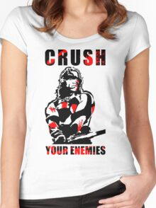 Crush Your Enemies Women's Fitted Scoop T-Shirt