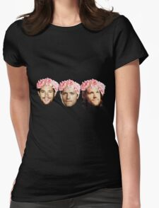 Jared Padalecki, Jensen Ackles, and Misha Collins Womens Fitted T-Shirt