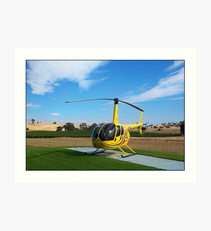 Helicopter Riding High Art Print