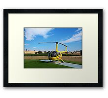 Helicopter Riding High Framed Print