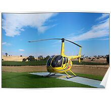 Helicopter Riding High Poster