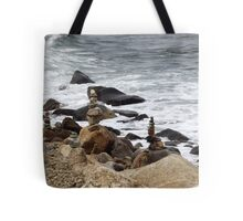 The Rocky Shore At Point Judith, RI Lighthouse [9] Tote Bag