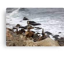 The Rocky Shore At Point Judith, RI Lighthouse [9] Metal Print