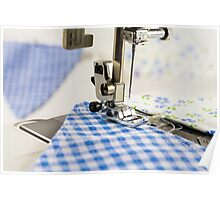 Sewing Blue Bunting  Poster