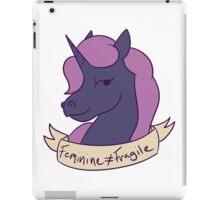 Feminine Does Not Equal Fragile iPad Case/Skin