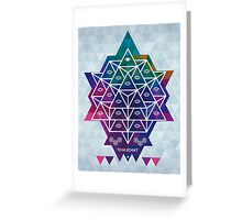 YOGA ROCKET Greeting Card
