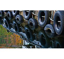 Wheels in Water - Wharf in Norway Photographic Print
