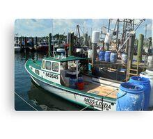 Lobster Boat at Point Judith, RI [10] Metal Print