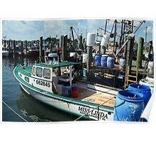 Lobster Boat at Point Judith, RI [10] Poster