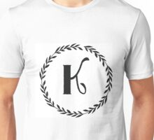 Monogram Wreath - K Unisex T-Shirt
