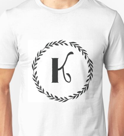 Monogram Wreath - K Unisex T-Shirt