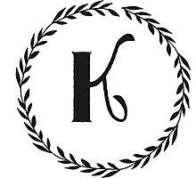 Monogram Wreath - K Photographic Print