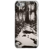 Fallen tree (black and white) iPhone Case/Skin