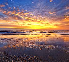 Mirror Sunset Callantsoog by Hetty Mellink
