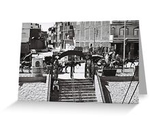 Horse taxi  Greeting Card