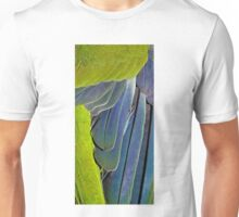 texture and background of colored feathers parrot - plumage Unisex T-Shirt