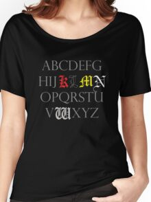 Death Note Alphabet Women's Relaxed Fit T-Shirt